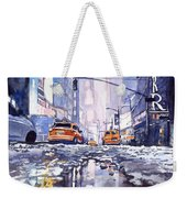 Blue Skyscrapers Weekender Tote Bag