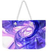 Blue Smoke Abstract Weekender Tote Bag
