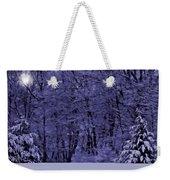 Blue Snow Weekender Tote Bag