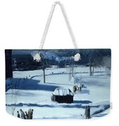 Blue Snow. The Battery Weekender Tote Bag