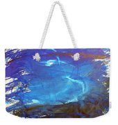 Blue Space Water Weekender Tote Bag