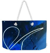 Blue Speed Weekender Tote Bag
