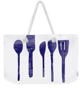 Blue Spoons- Art By Linda Woods Weekender Tote Bag