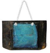 Blue Square Weekender Tote Bag
