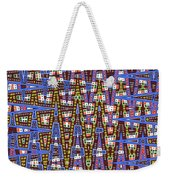 Blue Squares With Dots Weekender Tote Bag