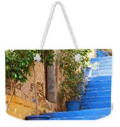 Blue Stairs Weekender Tote Bag