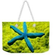Blue Starfish On Poritirs Weekender Tote Bag