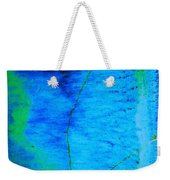Blue Stone Abstract Weekender Tote Bag