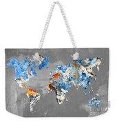 Blue Street Art World Map Weekender Tote Bag