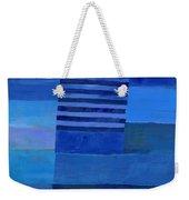 Blue Stripes 7 Weekender Tote Bag