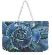 Blue Succulent Weekender Tote Bag