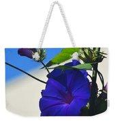 Blue Summer Flower Weekender Tote Bag