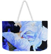 Blue Summer Iris Weekender Tote Bag