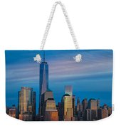 Blue Sunset At The World Trade Center Weekender Tote Bag