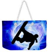 Blue Swirl Snowstorm Weekender Tote Bag