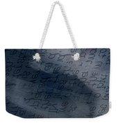 Blue Talk Weekender Tote Bag