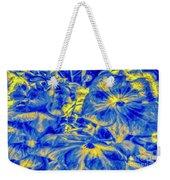 Blue Tango Floral Weekender Tote Bag