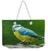Blue Tit Bird Weekender Tote Bag
