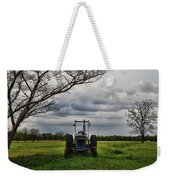 Blue Tractor Green Field Weekender Tote Bag