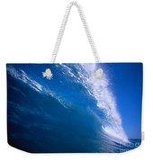 Blue Translucent Wave Weekender Tote Bag