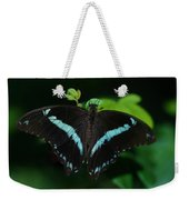 Blue Triangle Butterfly Weekender Tote Bag