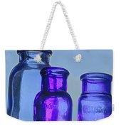 Blue Trio Weekender Tote Bag