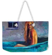 Blue Tub Study Weekender Tote Bag