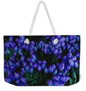 Blue Tulips Weekender Tote Bag
