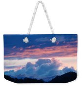 Blue Twilight Clouds Art Prints Mountain Pink Sunset Baslee Troutman Weekender Tote Bag
