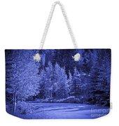 Blue Vail Weekender Tote Bag