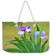 Blue Violet Irises  Weekender Tote Bag