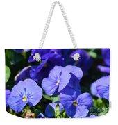 Blue Violets Weekender Tote Bag