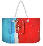 Blue Wall Red Door Weekender Tote Bag