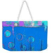Blue Water And Sky Abstract Weekender Tote Bag