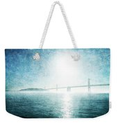 Blue Water Bridge Weekender Tote Bag