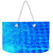 Blue Water Grid Abstract Weekender Tote Bag