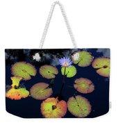 Blue Water Lily Weekender Tote Bag