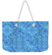 Blue Water Patchwork Weekender Tote Bag