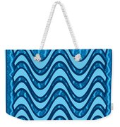 Blue Wave Over Wave Pattern On Gifts Shirts Pillows Tote Bags Phone Cases Shower Curtains Duvet Cove Weekender Tote Bag