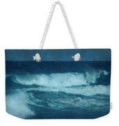 Blue Waves - Jersey Shore Weekender Tote Bag by Angie Tirado