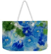 Blue Wet On Wet Weekender Tote Bag