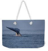 Blue Whale Tail Weekender Tote Bag