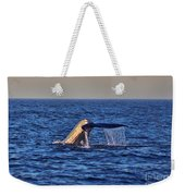 Blue Whales Tail Weekender Tote Bag