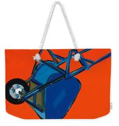 Blue Wheelbarrow Weekender Tote Bag