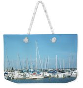 Blue White And Blue Weekender Tote Bag