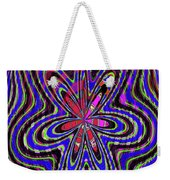 Blue White And Red Abstract #2944e2c Weekender Tote Bag