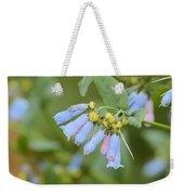 Blue Wild Flower Weekender Tote Bag