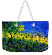 Blue Wild Flowers Weekender Tote Bag