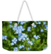 Blue Wildflowers Forget Me Nots Weekender Tote Bag