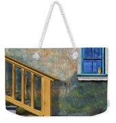 Blue Window Sill Weekender Tote Bag
